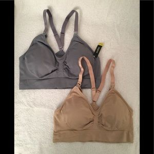 Coobie Sports Bras 2pk Nude/ Grey size 'Full '